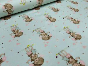 Stoff-Baumwolle-Jersey-Maedchenstoff-Herzen-Maedchen-hellblau-rosa-Kinderstoff