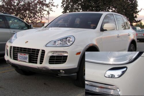 PORSCHE CAYENNE CHROME Head Light Washer Cover Caps for Cayenne 2007 Type 957