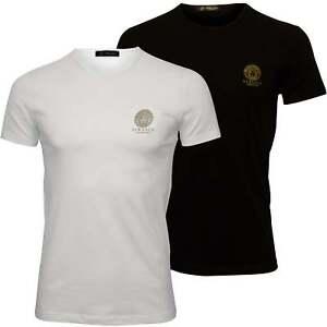 Versace-2-Pack-Iconic-Crew-Neck-Herren-T-Shirts-schwarz-weiss