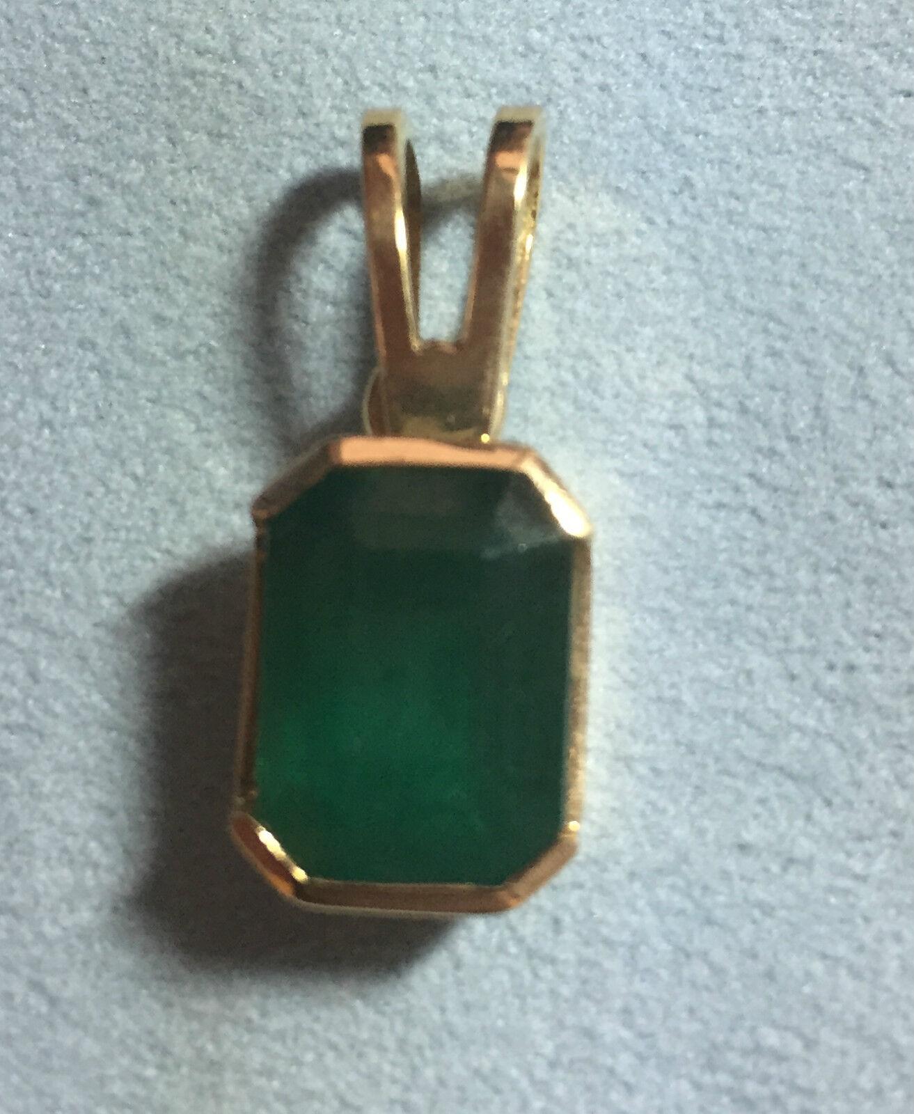 Ladies 14kt Muzo Emerald Pendant