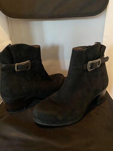 DANSKO Hartley Black Nubuck Leather Boot  ~ SZ 39