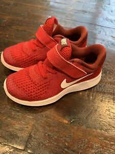 Nike Revolution 4 Sneakers Size 9C Toddler Red 943304-601
