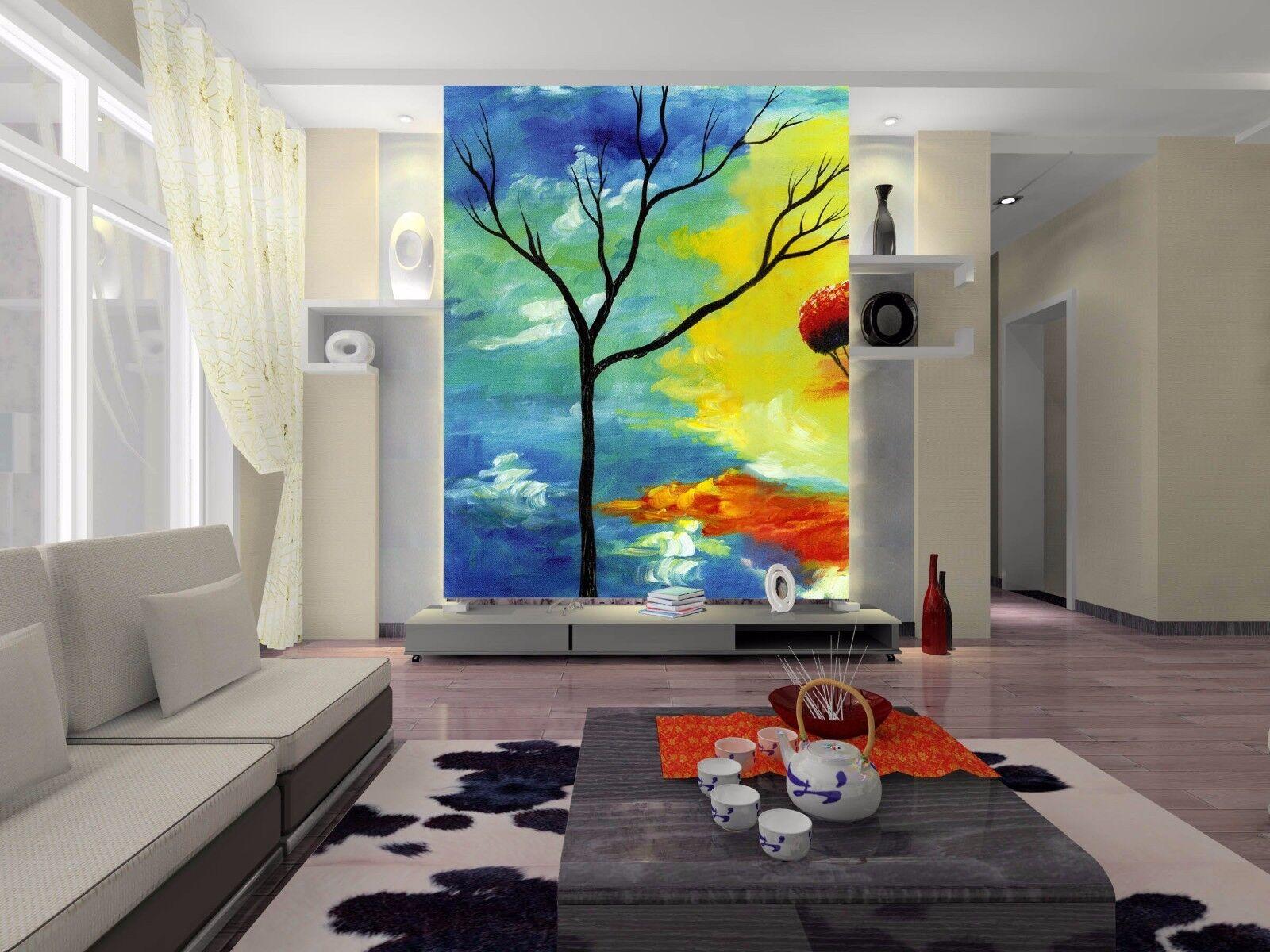 3D Ölgemälde Baum Schatten 87 Tapete Wandgemälde Tapete Tapeten Bild Familie DE