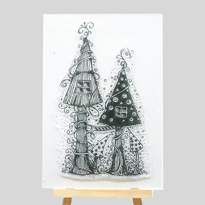 Silicone Clear Stamp Transparent Rubber Stamps DIY Scrapbook Christmas D