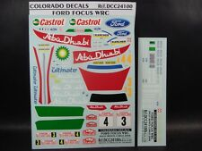 DECALS 1/24 FORD FOCUS WRC  #3 ou #4 MONTE CARLO 2008 - COLORADO  24100