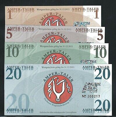 "1, 5, 10, 15 /""Gutschein/"" local currency POLYMER BNB set of 4 notes"