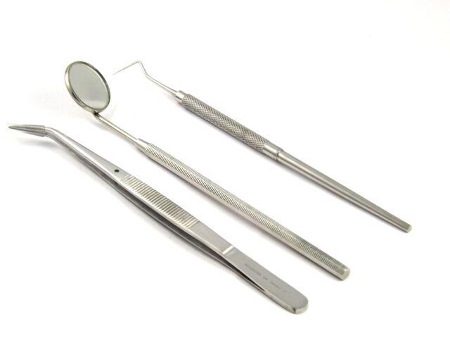 Basic Dental Exam Instruments Hygienist Kit Reusable Dental Probe Tweezers CE