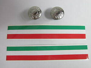 NOS CINELLI MILANO HANDLEBAR HANDLE BAR END PLUGS CAPS SILVER W/ FINISHING TAPES