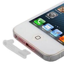 Tapón Protector Antipolvo Dock y audio X2 Blanca Silicona iPhone 5