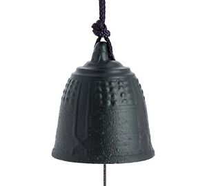 FURIN-Cloche-a-vent-metal-NOIRE-Made-in-Japan-Import-direct-Japon