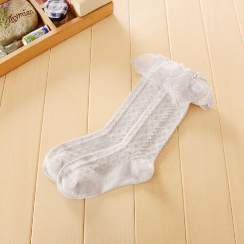 8 years Baby Girl Children Socks Toddler Kids Knee High Frill Lace 9 months