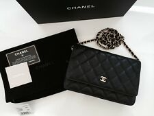 d7050171bfce CHANEL Classic Timeless Black Caviar WOC Wallet On Chain Bag Gold Hardware  NWT