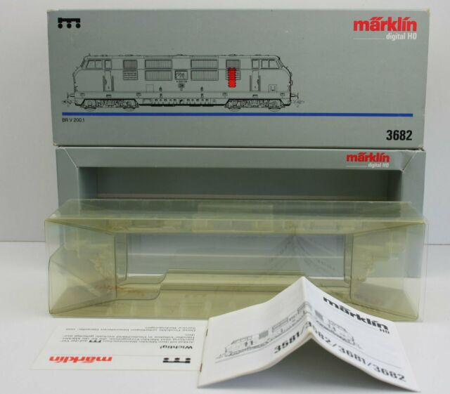 Märklin 3682 Leerkarton für Diesellok BR 221 V 200.1 (3382 3581 3582 3681 3882)