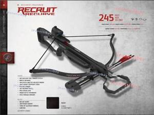 Details about Barnett Recruit Recurve Crossbow For Hunting Target With 3  Arrows Red Dot Scope
