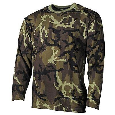 MFH US Army T-Shirt Langarm Longsleeve Langarmshirt M95 CZ Camo / Woodland S-3XL