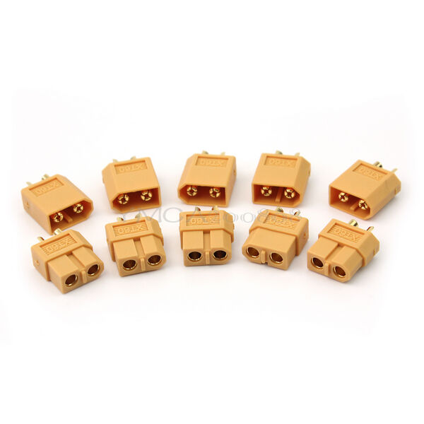 5 Paar Stecker + Buchsen xt60 Bullet Adapter Plug Male/Female für RC Motor Top