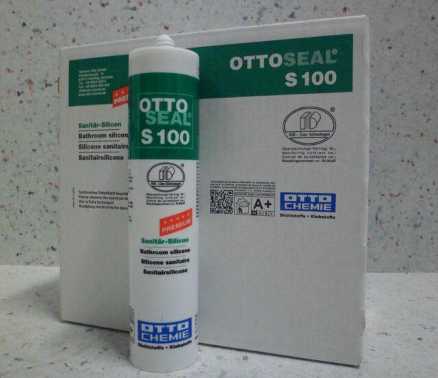 Ottoseal S100 Marrón Medio 20 x 300 ML Fuga de Silicona Sanitaria Superior Baño