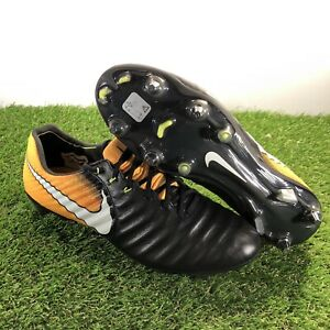 681dcd2aa Nike Tiempo Legend VII SG-Pro Mens Soccer Cleats Black/Yellow 897753 ...