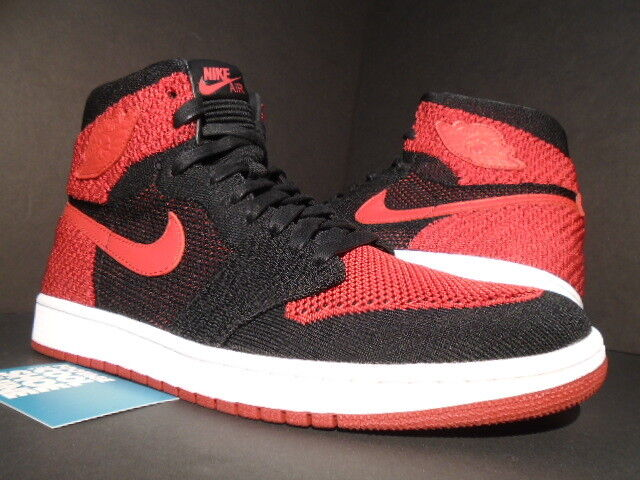 622a0aba3cce4 Air Jordan 1 Retro Hi Flyknit Bred Banned 2017 QS Nike 919704-001 Size 11  for sale online