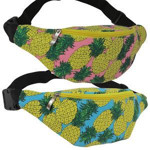 37f4e6c176d8 Details about Tropical Pineapple Fanny Pack Festival Fashionista Waist Bag  Beach Party