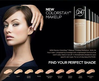 (1) Revlon Colorstay For Normal / Dry Skin Makeup Foundation, You Choose Color!!