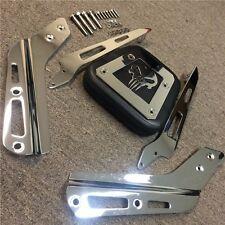 Skull Backrest Sissy Bar w/ Leather Pad For Honda VTX 1300C 1800C 86-12 Chrome