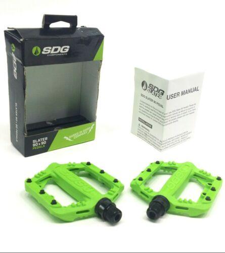 SDG SLATER JUNIOR//KID/'S MOUNTAIN BIKE PEDALS 90x90mm GREEN