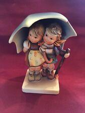 1960's Hummel #71 Stormy Weather Boy Girl Under Umbrella Figurine TMK 3 Vintage