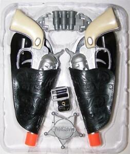 Badge and Belt Little Cowboy Sheriff Left Hand Holster Set w// Clicker Pistol