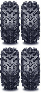 4-Interco-Swamp-Lite-ATV-Tires-Set-2-Front-27x9-14-amp-2-Rear-27x11-14-SwampLite