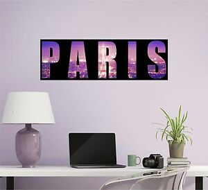 Image Is Loading Paris Wall Decal Paris Silhouette City Skyline Decal