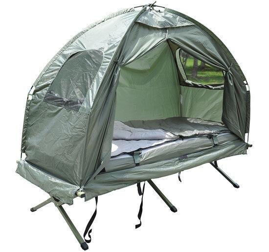 Campamento Cama Con Carpa, Bolsa De Dormir y colchón de aire