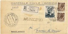 P8310  Gorizia, piego amm. raccomandato per Farra d'Isonzo, 1954