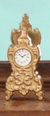 French Mantel Clock, Dolls House Miniature, Ornamental accessories 1/12 scale