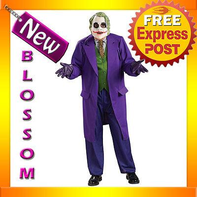 C341 Deluxe Batman Dark Knight The Joker Fancy Halloween Mens Costume PLUS