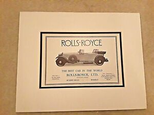 Vintage Rolls-Royce The Best Car in the World Bombay Delhi India Ad Matted