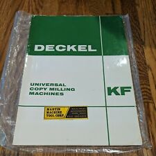 Deckel Kf Brochure Copy Pantograph Mill