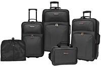Deals on Travelers Choice Ultimate 5-pc Expandable Wheeled Luggage Set