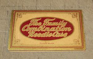 Vintage-SHARP-039-S-NEEDLE-GUILD-Family-Combination-Needle-Case-Marked-Germany