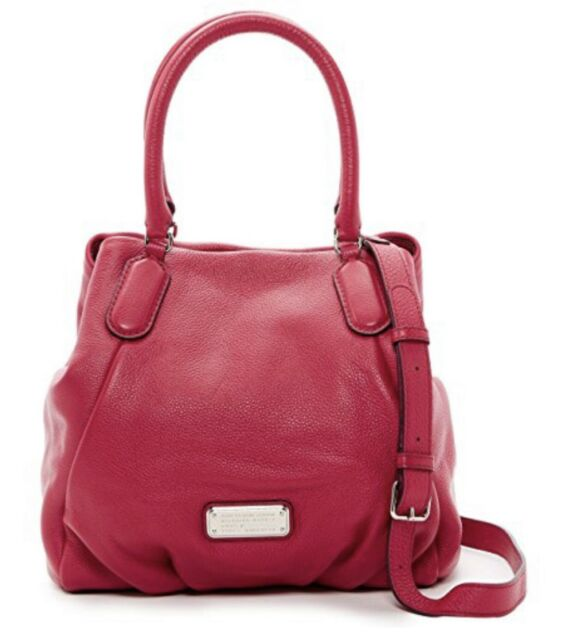 723d4c19cff8 MARC by MARC JACOBS  Classic Q Fran  Leather Bag Tote Peony  448 New Purse