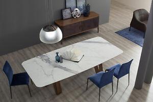 Tavolo Butterfly di Tonin Casa con il paino in marmo bianco carrara ...