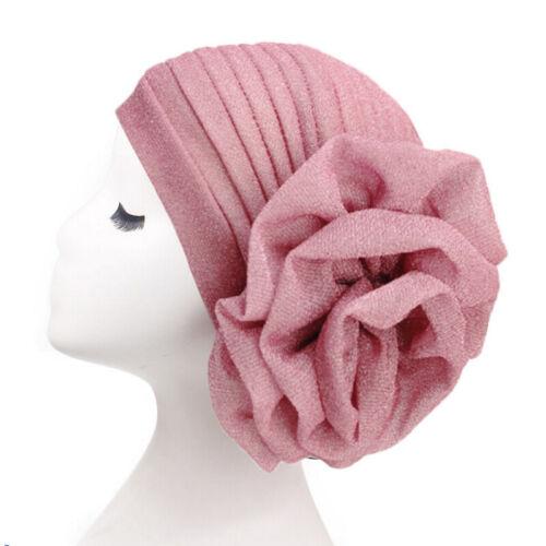 Damen Turban Hijab Chemo Mütze Retro Kopftuch Schlafhaube Kopfbedeckung Kopftuch