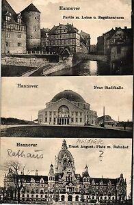 Hannover, Mehrbild-AK, 1918, interessante Karte mit falscher Beschriftung - Deutschland - Hannover, Mehrbild-AK, 1918, interessante Karte mit falscher Beschriftung - Deutschland
