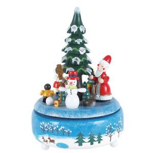 Spieluhr Weihnachten.Details Zu Spieluhr Weihnachten Schneemann Mit Schlitten Melodie O Tannenbaum