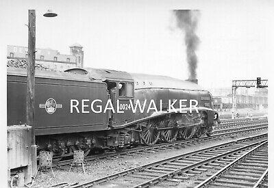 "BRITISH RAIL RAILWAY STEAM PHOTO 1960/'S A4 60024 /""KINGFISHER/"" AT PERTH 1966"