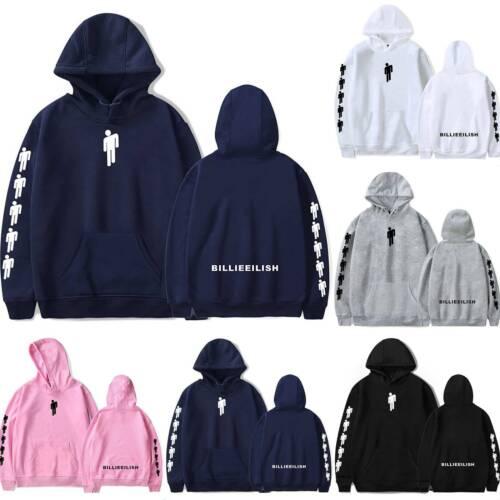 Unisex Billie Eilish Couple Jumper Hoodie Sports Hip Hop Hooded Warm Sweatshirts
