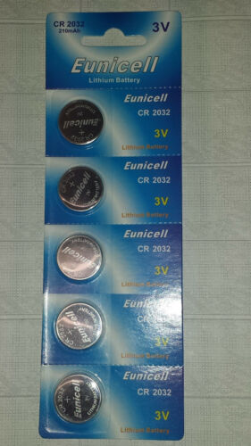 30x Bouton Batterie Eunicell cr-2032 3 V 210 mAh Lithium Battery #1