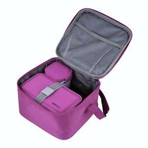 Lunchbox Frühstückbox mit 2 Boxen Lunchbag Isoliertasche Thermotasche Picknick
