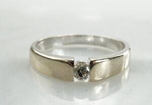 Eleganter-Ring-585er-Gold-14K-Edelstein-Brillant-Marke-Christ-3-00g-Gr-54