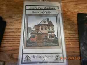 Joan's Own Creations Appliqué Quilt Pattern HOMESTEAD QUILTS Heirloom Quality